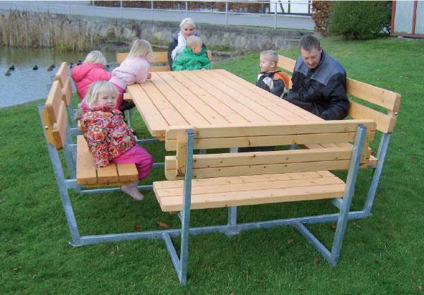 Ryddig Benk/bord til 12 personer – Bille AS MY-71